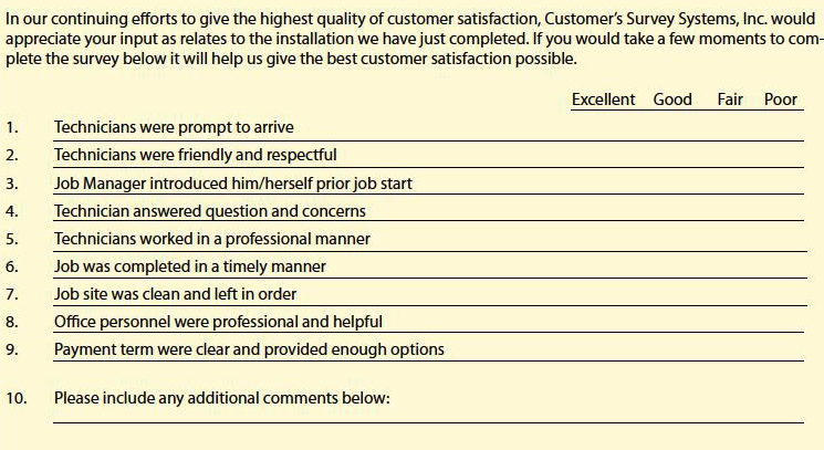 customer-questionnaire