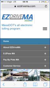 EZPass Home Page