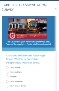 Mass Senate Transportation Survey 1
