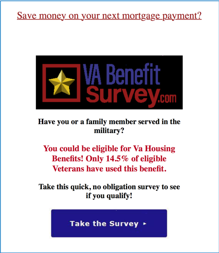 VA Survey Phishing Attack