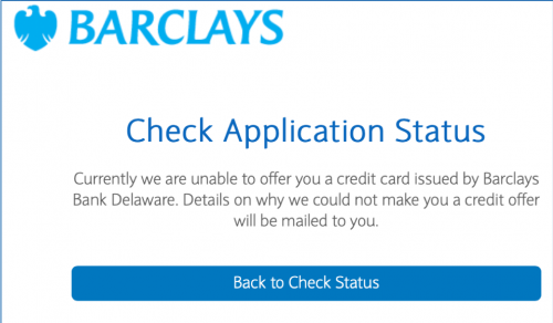 Barclay Instant Rejection