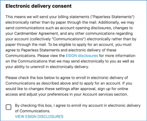 Electronic Communications Requirement
